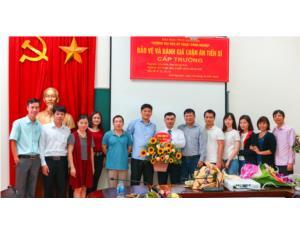 NCS Mai Trung Thái bảo vệ thành công luận án tiến sĩ cấp Trường