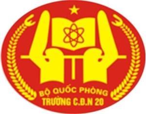 Trường Cao đẳng nghề số 20/BQP cần tuyển nhân sự cơ hữu