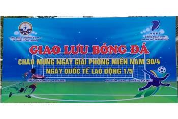 Giao lưu bóng đá giữa Trường Đại học Kỹ thuật công nghiệp và VNPT Thành phố Thái Nguyên